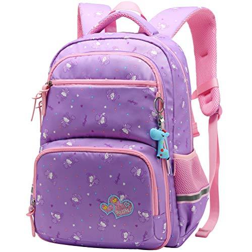 Vbiger Zaino per bambini Borsa da scuola adorabile All'aperto Casual Daypack per gli studenti delle scuole elementari (Porpora)
