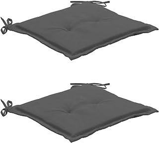 Juego de 2 Cojines de Asiento Silla 50x50x3 cm Cojín con Relleno Cómodo e Impermeable para Interior y Exterior Oficina Comedor Cocina Casa Jardín Sala Terraza Patio Balcones [EU stock]
