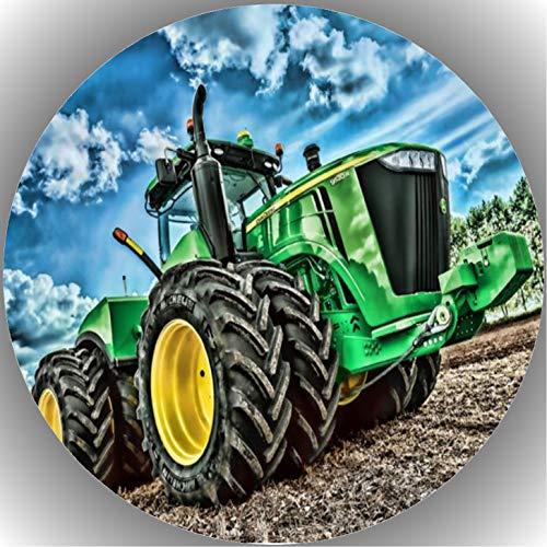 Fondant Tortenaufleger Tortenbild Geburtstag Trecker-Traktor A 7