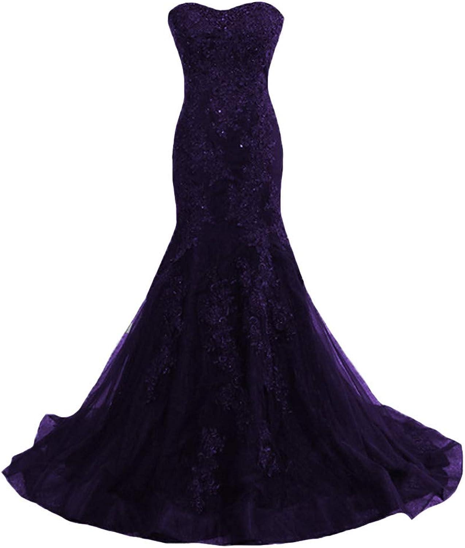 P.L.X Strapless Lace Corset Mermaid Vintage Wedding Gowns Evening Bridal Dresses