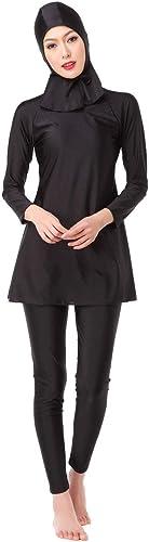 Oudan Maillot de Bain du président Conservateur, Le Maillot de Bain Hui Muslim, Noir, XL (Couleuré   comme montré, Taille   Taille Unique)
