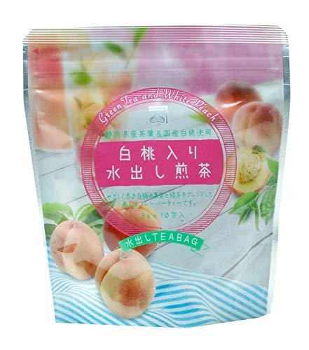 カネ松製茶 白桃入り水出し煎茶ティーバッグ 30g ×4袋