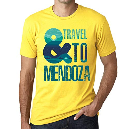 One in the City Hombre Camiseta Vintage T-Shirt Gráfico and Travel To Mendoza Amarillo