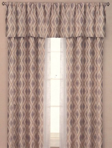 The Great Indoors 52 by 84-Inch Brielle Home Yorkshire Lined Rod Pocket Panel Curtain and Optional Valance