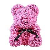 BriskyM Rose Bär Spielzeug, Ewige Rose, Valentinstag künstliche Rose Teddybär Puppen, verwendet...