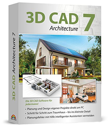 3D CAD 7 Architecture 2D / 3D Architektur-Software, Hausplaner, Grundrisse zeichnen für Windows 10, 8.1, 7