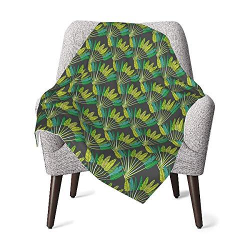 EADFZGFBDVXFVC verde tropical hojas de la palma bebé suave manta de forro polar manta de invierno para niñas niños baño ducha