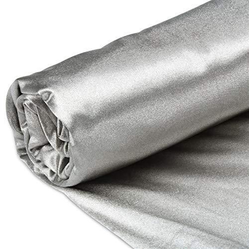 CEXTT La Tela de Punto de Fibra de Plata se Aplica a la Ropa Interior de la Ropa de electrodo Inteligente Ropa portátil con la radiación conductora Ancho 150 cm (Size : 5 Square Meters)