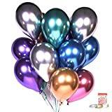 【★★★NEW ARRIVAL, Normal price $19.99, Limited Promotional price $17.99, Only ONE day,Only order ONE ★★★】WHAT'S INCLUDED: ①Metallic Party Balloons(60pcs =10pcs/1color x 6colors) ②Gold and Silver Laser Ribbon(66ft) ③Double-sided glue dot (100dot) ④2 Pc...