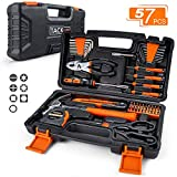 TACKLIFE 57-Piece Tool Set -Household Repair Tool Kit with All Essential Tools for Home, Office, Apartment with Sturdy Tool Box Storage Case -HHK3A