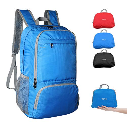 Amazon Brand - Eono - 30L Ultra Lightweight Backpack, Water Resistant Rucksack, Unisex Small Daypack for Men Women Kids Outdoor Camping Mountaineering Walking Cycling Climbing,Blue