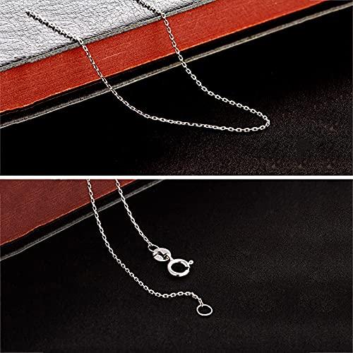 Cadena de plata para mujer y niña, 18.0in, 26 letras, cadena de plata sin colgante de plata, súper fina y fuerte, precio amigable y calidad