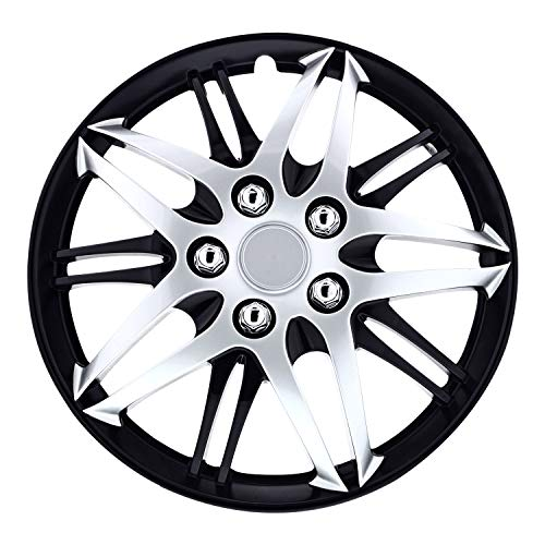 Pilot WH544-15C-BLK Universal Fit Formula Series Black and Chrome 15 Inch Wheel Covers - Set of 4