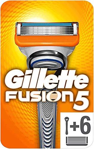 Gillette Fusion 5 Rasierer Herren mit Trimmerklinge für Präzision und Gleitbeschichtung, Rasierer + 6 Rasierklingen