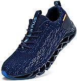 LARNMERN Zapatillas de Deporte Hombres Mujer Ligero Transpirable Running Zapatos para Correr Gimnasio Casual Sneakers Deportivas(Azul 44)