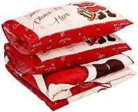 Scartalo e goditi questo set piumino meravigliosamente festivo questo Natale! Presenta uno stile vintage in Babbo Natale e un sacco pieno di regali, su uno sfondo neutro con un audace bordo rosso. Il testo è scritto sulla federa e sul davanti c'è scr...