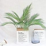 Vosarea Künstliche Zweige Kunstpalmen 9 Zweige Foto Requisiten Lebensecht Blätter Indoor Outdoor Haus Garten Hochzeit Party Dekoration - 8