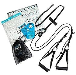 Schlingentrainer Übungen mit aeroSling ELITE - Sling Trainer mit Umlenkrolle, Türanker, Online-DVD, Poster