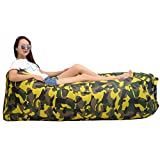 iZEEKER Inflatable Lounger Wind Breezy Pouch Couch Windbed Cloud Air Chair Sofa Bed Lazy Bag Been Sleeping Sand Beach Laybag Blow Up Original Fast Hangout Outdoor Hammock Lounge Adults Kids
