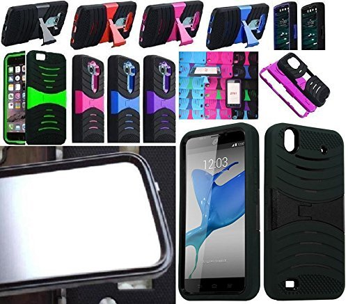 [ NP ARMOR ] Built in Screen Protector Faceplate Phone Cover Case for ZTE Quartz / Z797C Z797 (uPINK/Black)