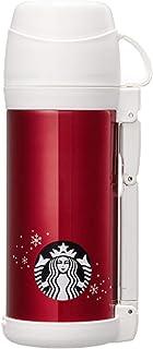 海外限定 スタバ ホリデーレッドステンレスタンブラー 保温保冷ボトル Starbucks FFW Holiday Red Thermos Tumbler 1000ml [並行輸入品] (Red)
