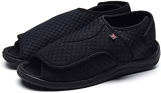 LFLPX Hommes Mme Diabétiques Chaussures Unisexe Respirant Tactile De Fixation Chaussons Orthopédique Diabetic Slipper Bott...