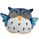 Rainbow Fox® lustig Wurfkissen- niedlichen blauen Stofftiere für Kinder Eule Kissen Plüschkissen...