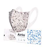 Airllo Adult Face Masks Washable Reusable Disposable Breathable, Thin, Lightweight, Individually Wrapped Safety Anti-Acne Hypoallergenic Respirators for Dust Protection 5-Layer, Hayley (5)