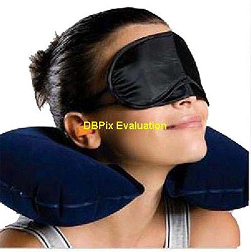 Kit da viaggio 3-in-1, cuscino gonfiabile collo Air & Ear Plugs & Eye Mask