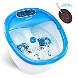 Ivation Foot Spa - Multifunction Heated Bath Massager with Vibration, Rollers, Bubble