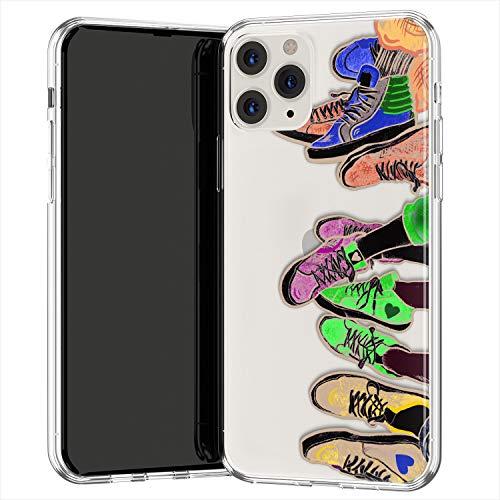 Lex Altern TPU Funda para Apple iPhone 12 Pro SE 11 XS MAX XR 8 7 Plus 6 + Delgado Patrón Niñas Trainers Cubierta Ligera Vans Chicas Sneakers Carcasa Transparente Vistosa uk1269
