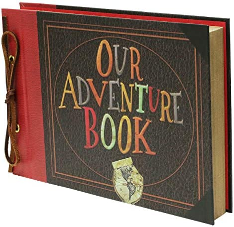 IngTall Our Adventure Book Scrapbook 11 6x7 5 Inches Large Photo Album Scrapbook with Embossed product image