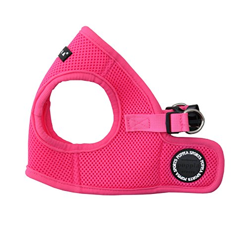Puppia Authentic Neon Soft Vest Harness B, Pink, Large