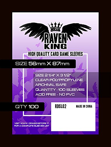 Raven- Bustine protettive per Carte da Gioco, RDSL02