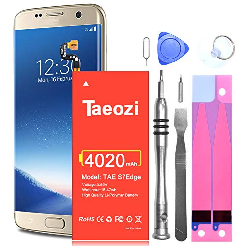 Galaxy S7 Edge Battery Replacement, Upgraded 4020mAh High Capacity Batteries for Samsung Galaxy S7 Edge EB-BG935ABE G935A G935F G935V G935P G935T with Repair Tool Kits