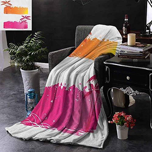 ZSUO bont deken Kleurrijke bloemensamenstelling met bloeiende bladeren Botany Zachte zomer Koeling Lichtgewicht Bed deken