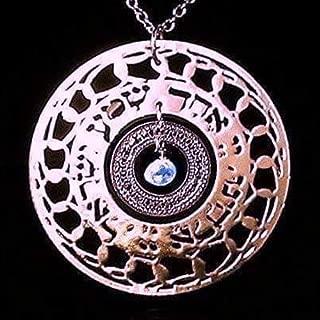 Shema Israel Rose Gold Necklace, Inspirational Necklace, Jewish Jewelry for Women, Aquamarine Jewelry, Biblical Jewelry, Hebrew Jewelry