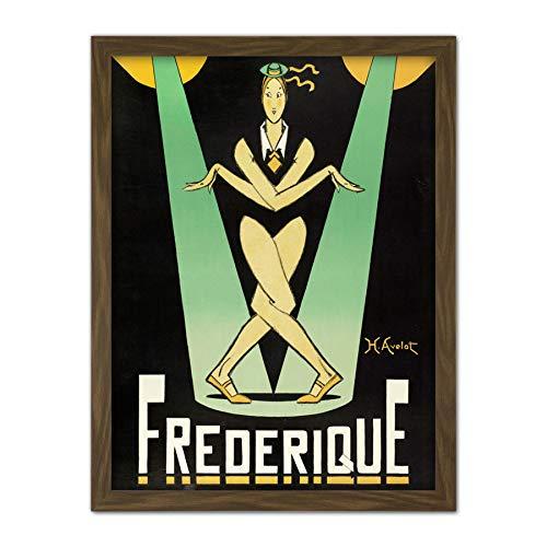 Avelot Frederique musik hall stjärna annons stor inramad konst tryck affisch väggdekor 18 x 24 i musik reklam vägg dekoration
