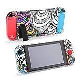 Funda protectora para Nintendo Switch, diseño de caracol fantasía, funda duradera para Nintendo Switch y Joy Con