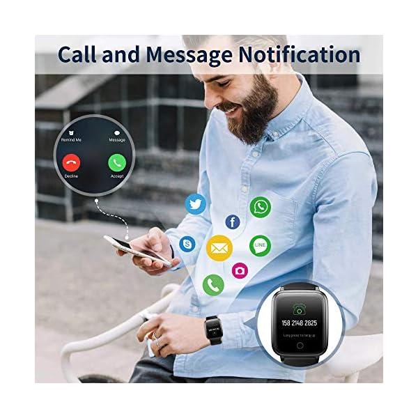 Smartwatch, Reloj Inteligente Impermeable IP68 con Monitor Sueño Pulsómetros Caloría Podómetro Operación con un Clic… 6