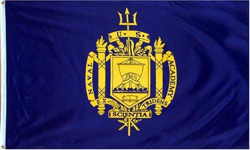 RFCO United States Naval Academy Polyester 3x5 Foot Flag USNA USN Midshipmen Navy MD