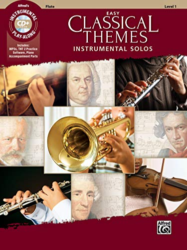 Easy Classical Themes Instrumental Solos: Flute (incl. CD): Flute, Book & CD