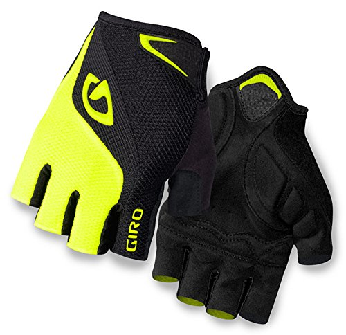 Giro Bravo Gel Men's Road Cycling Gloves - Black/Highlight Yellow...