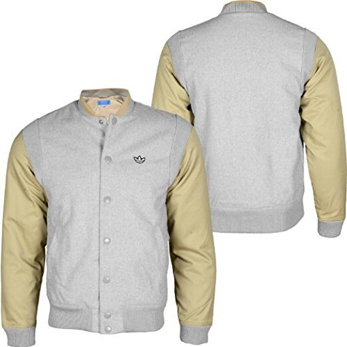 Adidas Firebird Wool Var College giacca uomo Sport Track Jacket Windbreaker, x51814, Grigio, grigio, XS