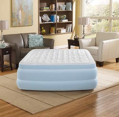 """Beautyrest Contour Aire Express Adjustable Comfort Raised Air Bed Mattress with Built-in Quick Pump, 18"""" Queen"""