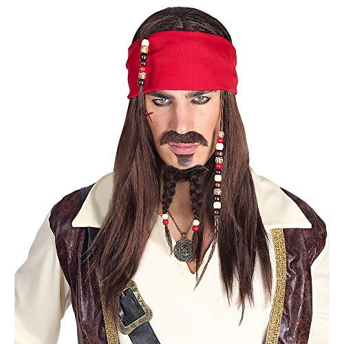 Widmann 06393 pruik Pirat, heren, zwart