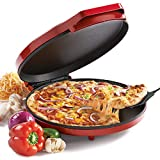 Commercial Chef Red Pizza Maker – CHQP12R