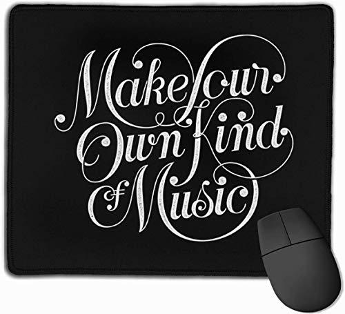 Maak uw eigen soort muziek donkere Gaming muismat anti-slip rubberen muismat voor computers desktops laptop muis mat 9.8