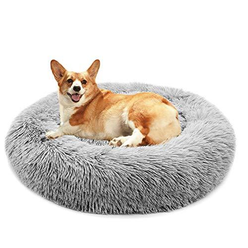 Hundebett Grosse Hunde, Flauschig Hundebett, Weiches Plüsch Hundekörbchen Mit Wasserfeste Unterseite, Hundekissen Waschbar, Für Katzen Und Hunde, 50-120cm
