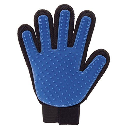 Jml True touch silicone Pet pelliccia toelettatura guanto massaggiatore Detangler con 5dita design